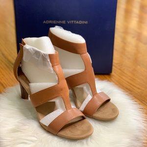 Adrienne Vittadini woman's Varsity Caramel heel